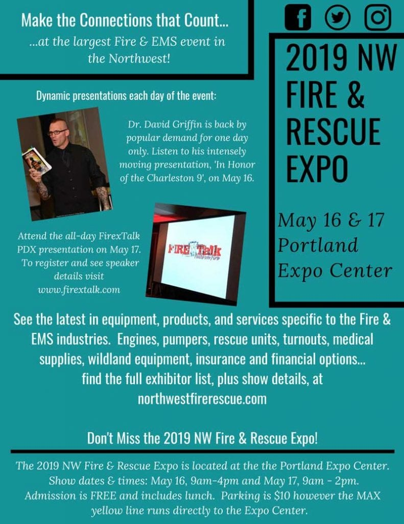 2019 NW Fire & Rescue Expo Flyer
