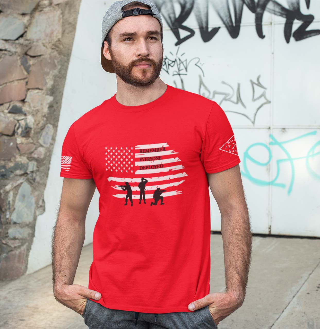 remember everyone deployed(R.E.D.) red mens