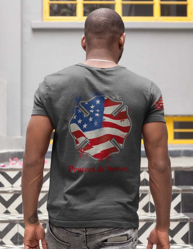 us fireshield men's t-shirt in charcoal