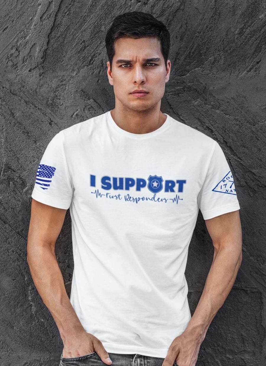 Support the Blue On White Men's T-Shirt